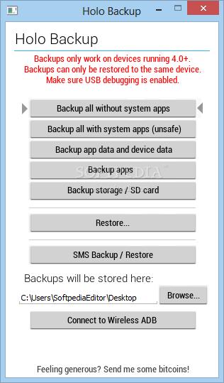 Holo Backup app