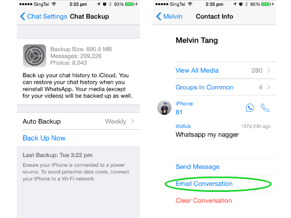 message backup whatsapp