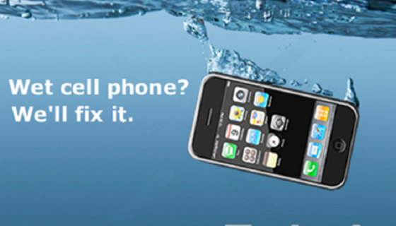 Fix a wet cellphone