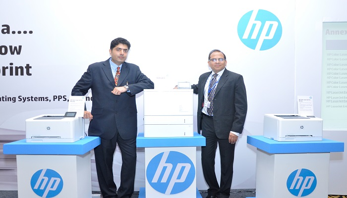 Parikshet Singh Tomar, Country Category, Printing and Personal Systems, HP India and Dhirendra Khurana, Head - Category, Laserjet Enterprise Systems, PPS, HP India