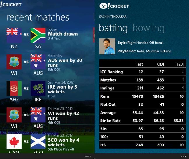 Yahoo-Cricket-app android
