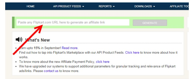 HOW TO GENERATE AFFILIATE LINK FOR THE PRODUCT