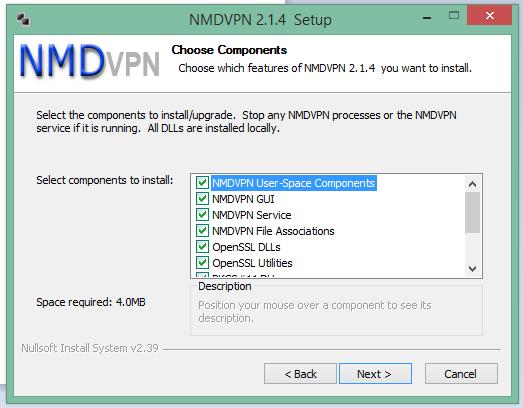 How to configure nmd vpn