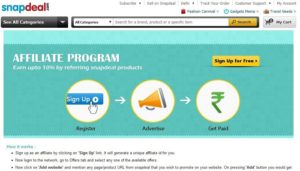 Snapdeal Affiliate Program: How to Make Money (proofs)