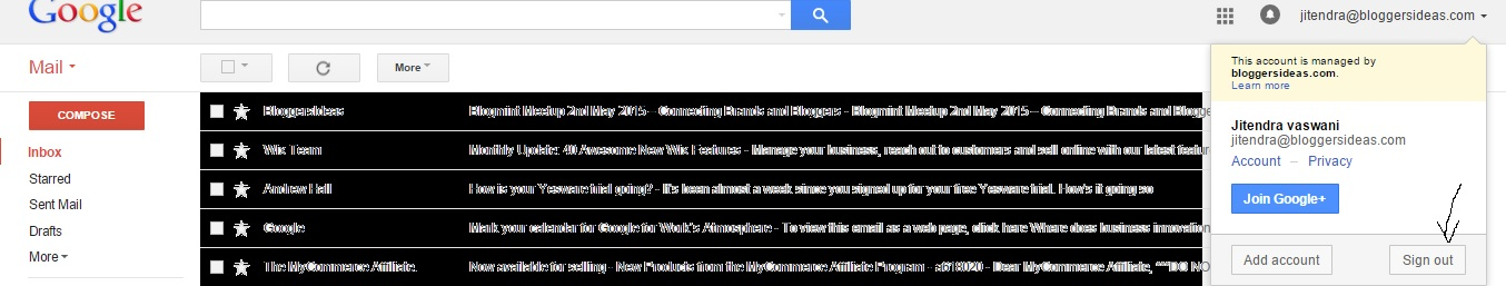 gmail logout