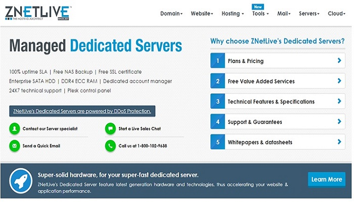 Best Dedicated Server Hosting Provider in India Znetlive