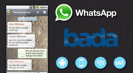 Download Whatsapp App for Samsung Bada or JAVA Mobile/Tablet - Champ, Chat, Wave