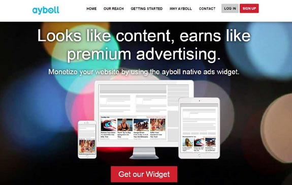 Ayboll Native Ads for Monetizing Your Blog