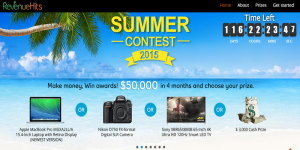 Signup with RevenueHits and Earn Lucrative Prizes in their Summer Contest 2015