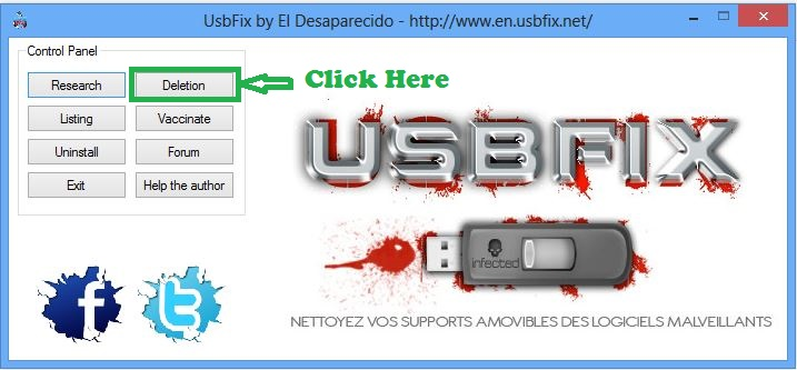 remove shortcut virus from Pen Drive & PC: usbfix