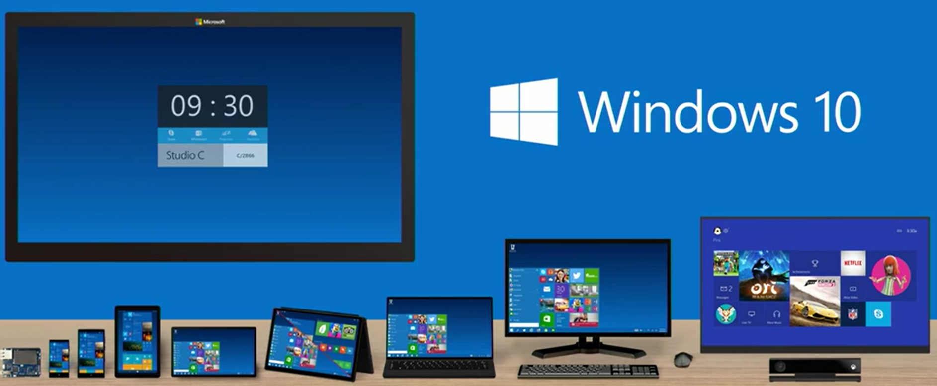 windows 10 menus and features