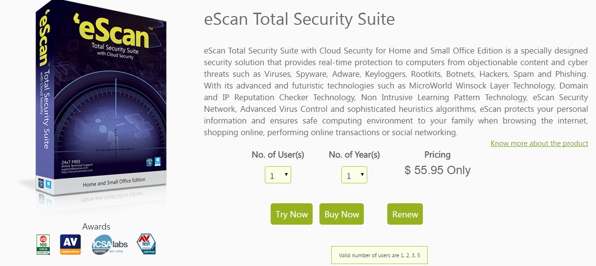 escan antivirus with total protection for windows 10 free download