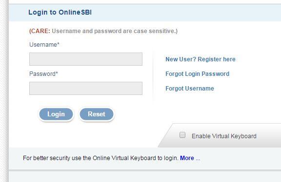 forgot the password of sbi net banking