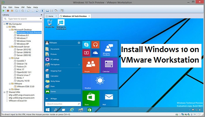 How to Install Windows 10 on VMware Workstation? -