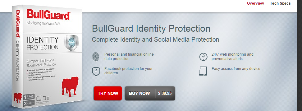 BullGuard Identity Theft Protection Software