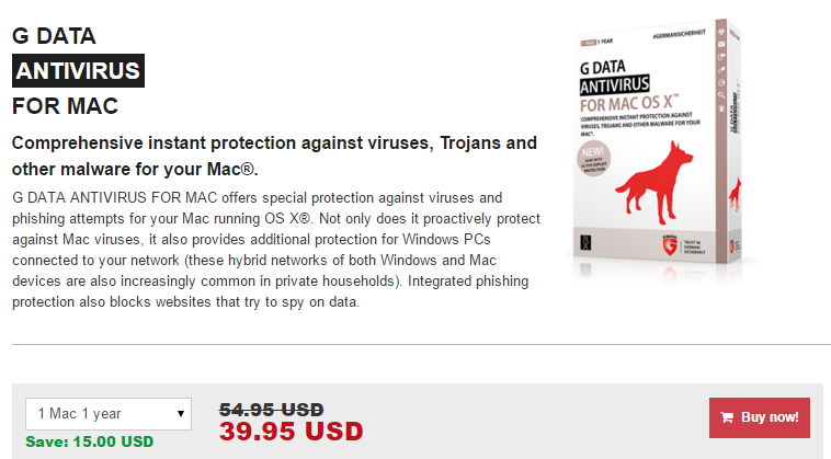 G Data AntiVirus for Mac OS X