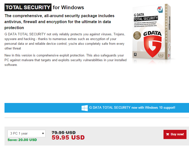 G Data Total Security Security for Windows