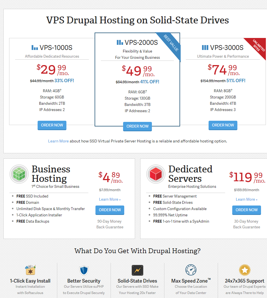 InMotion Hosting Drupal Hosting with FREE SSD