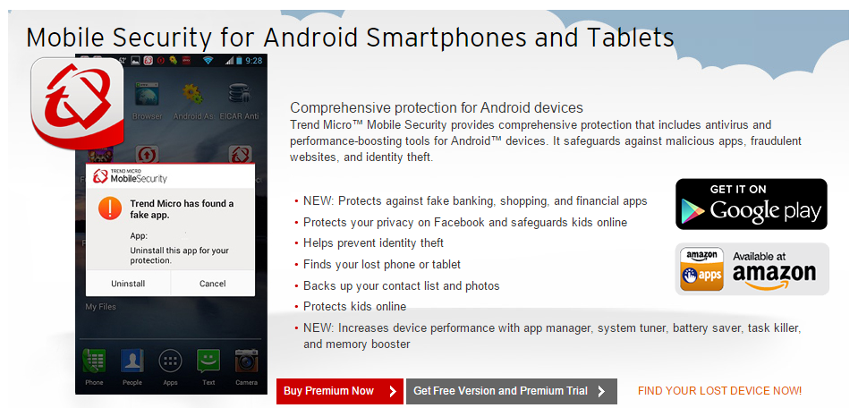 Trend Micro Android Security for your Mobile smartphone or tablet