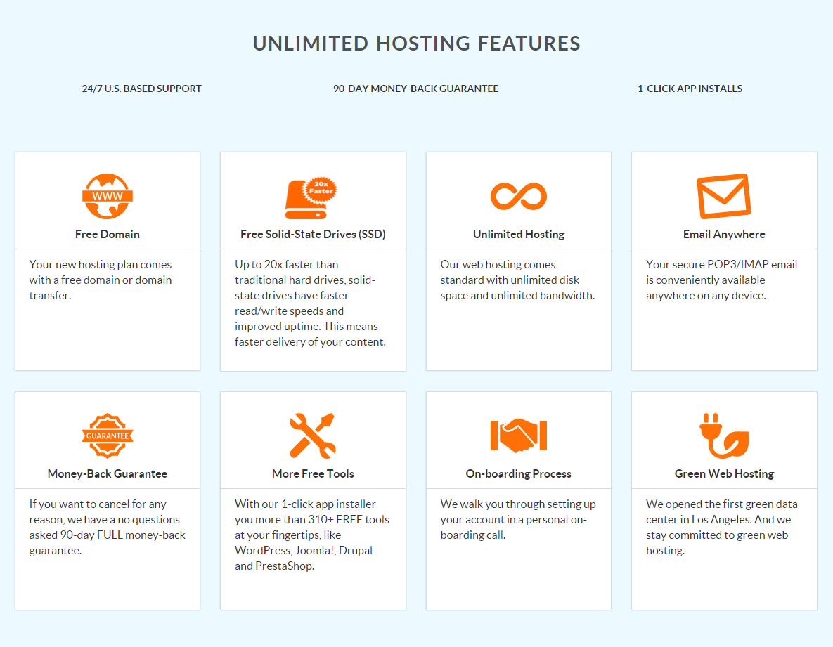 Web Hosting Hub Hosting Features