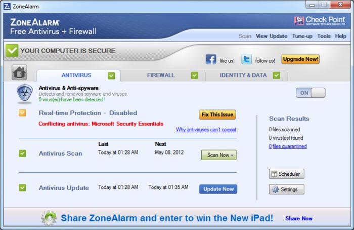 ZoneAlarm Antivirus + Firewall Review 2015 : Download ZoneAlarm Free