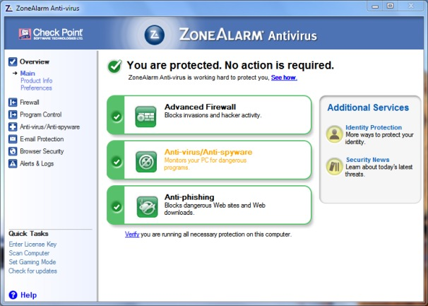 ZoneAlarm Antivirus + Firewall Review 2016 : Download ...