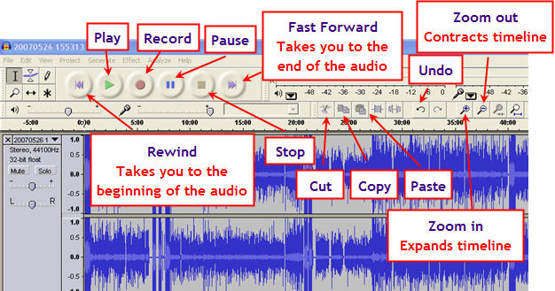 controls Download Audacity for PC or Laptop on Windows 7_8 _8.1_10 & Mac