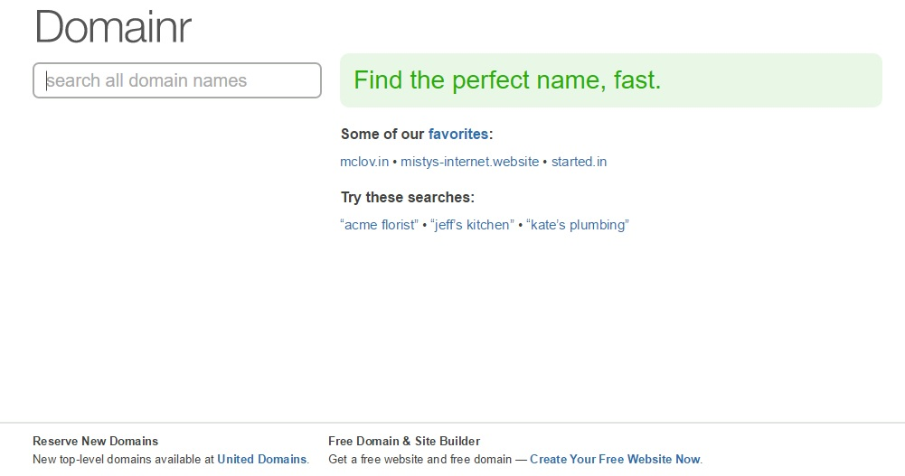 domainr Tools for Picking the Perfect Domain Name