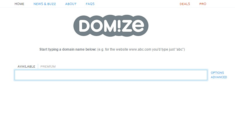 domize Tools for Picking the Perfect Domain Name