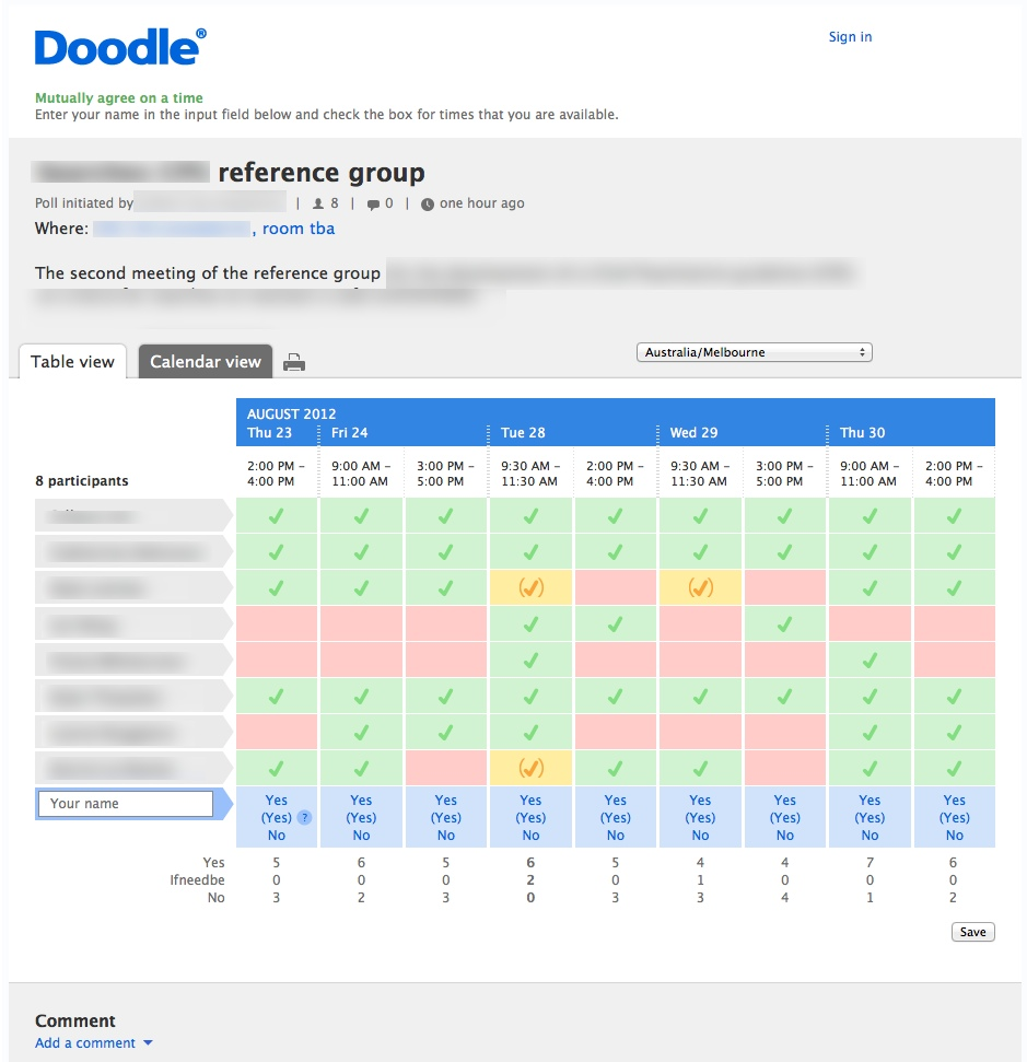 doodle Best Meeting Scheduler Apps and Tools