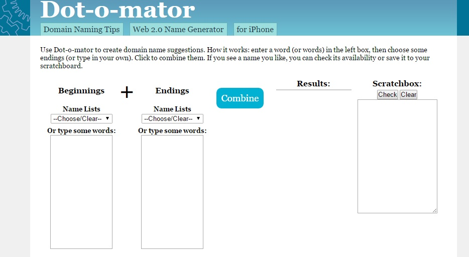 dotomator Tools for Picking the Perfect Domain Name