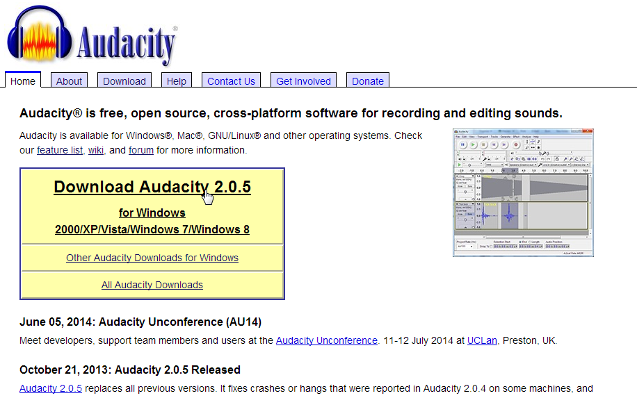 download Download Audacity for PC or Laptop on Windows 7_8 _8.1_10 & Mac