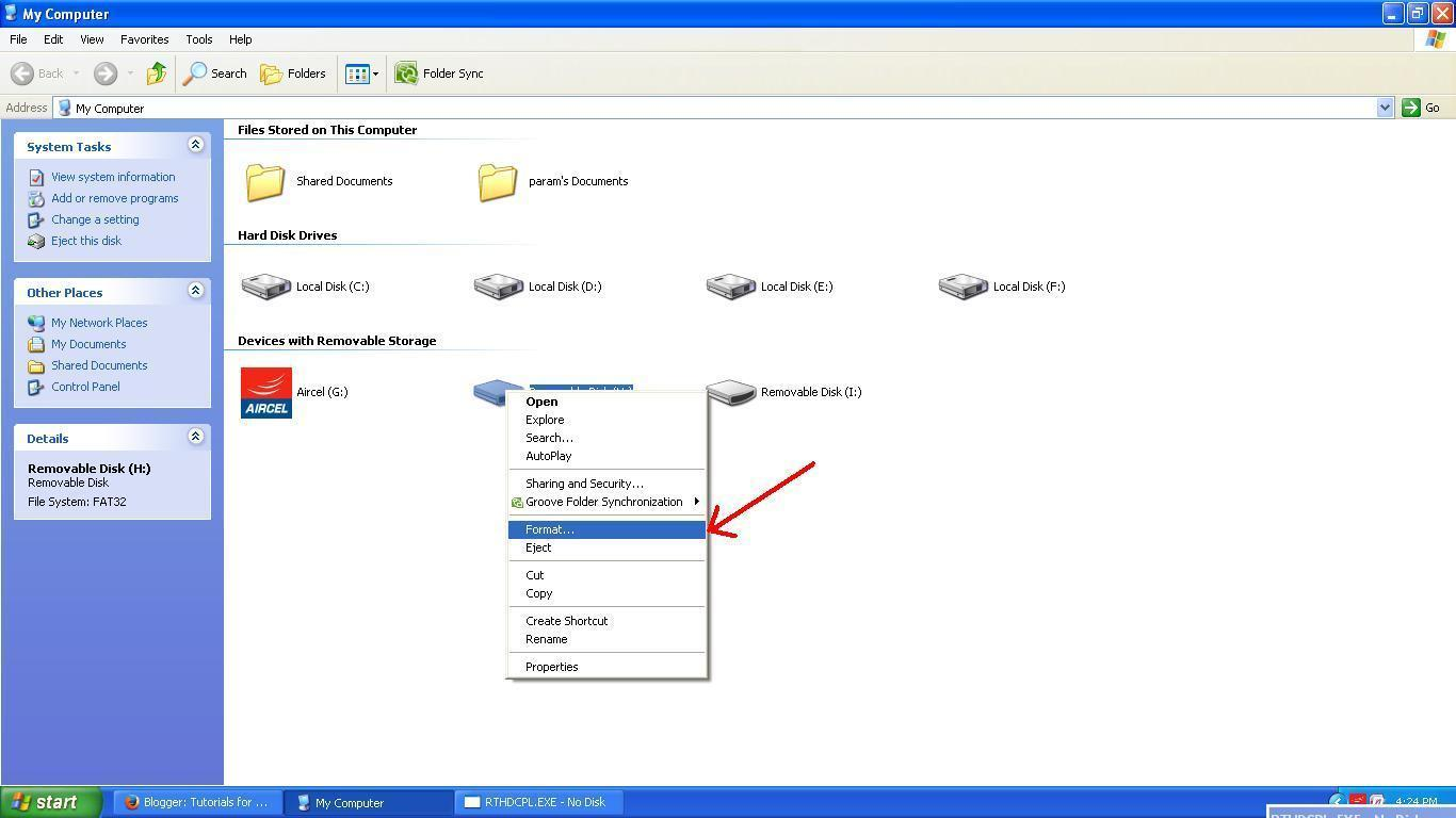 How to remove the write protection from the USB flash drive