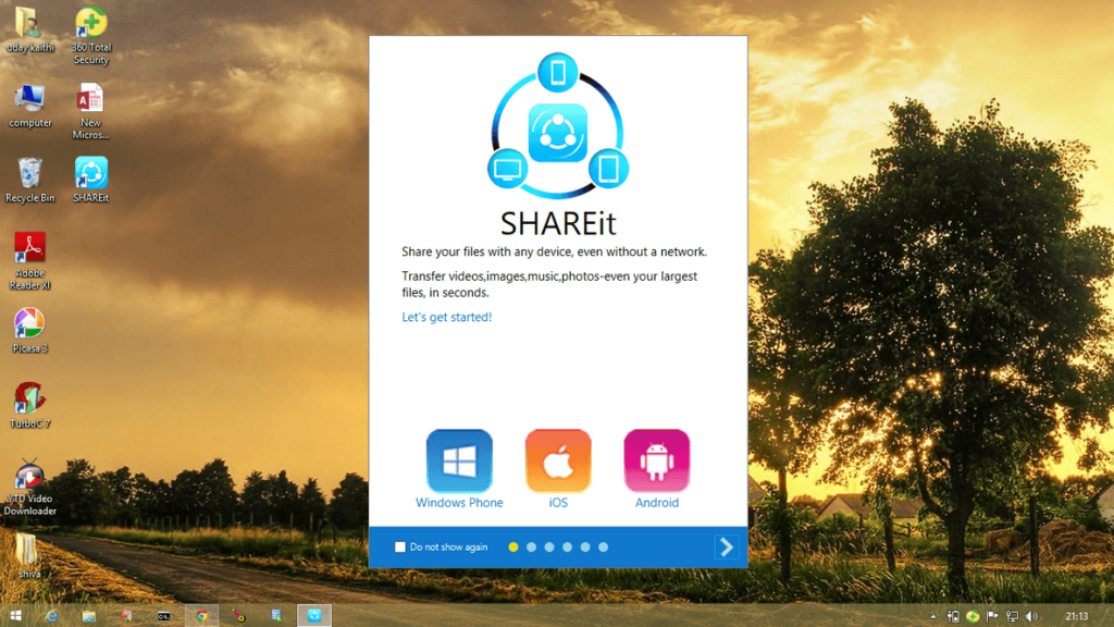 homepage Official Shareit for PC Download - Windows 7_8_ 8.1