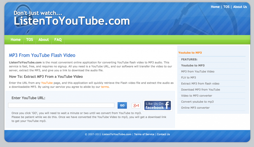 listentoyoutube Top Sites to Convert Youtube to Mp3