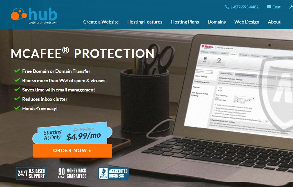 Web Hosting Hub Mcafee Hosting Services