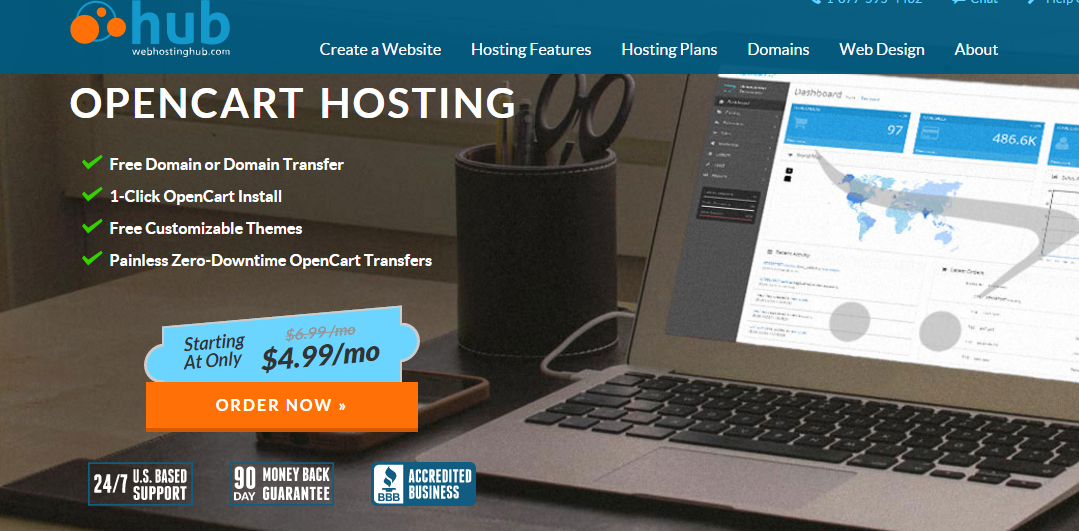 Web Hosting Hub Opencart Hosting Services