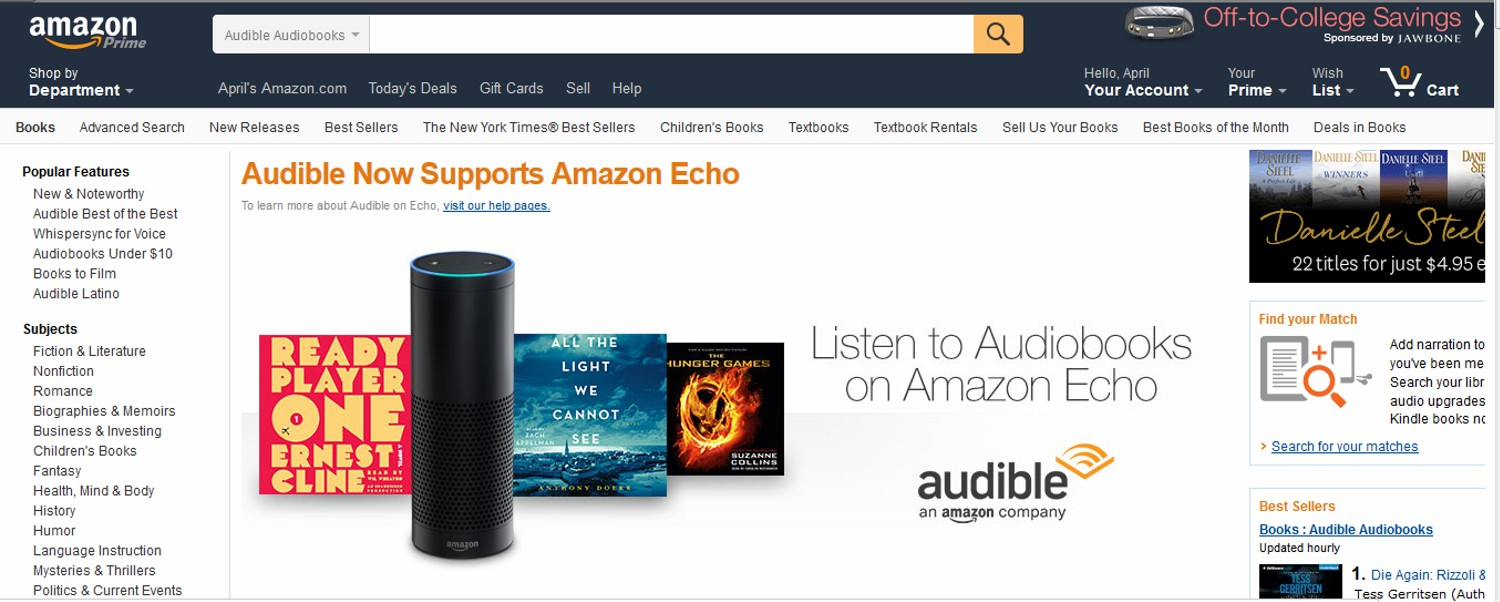 amazon Download Audible for PC or Laptop for Windows 7_8_8.1_10_XP and Mac