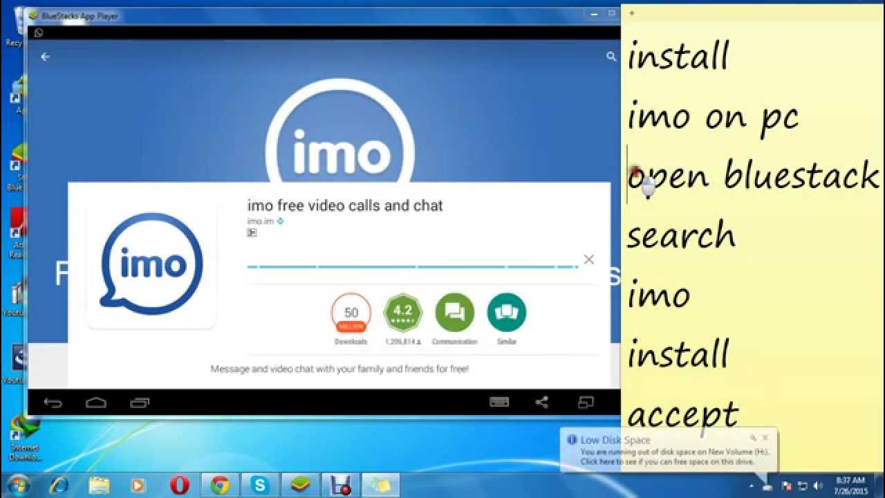 Download Imo for PC or Laptop Windows 7_8_8.1_XP and Mac
