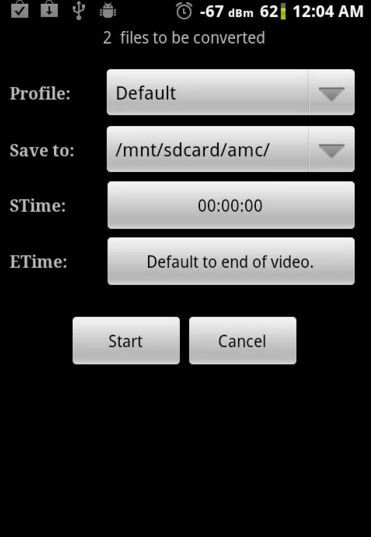 vca2 Top Video to Audio Converter for Android