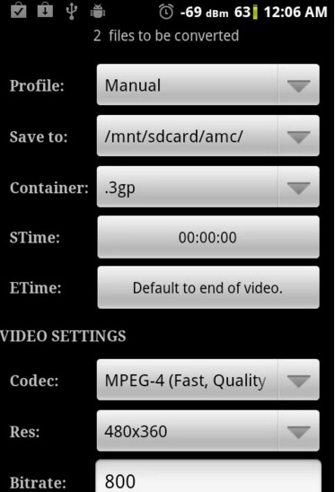 vca3 Top Video to Audio Converter for Android