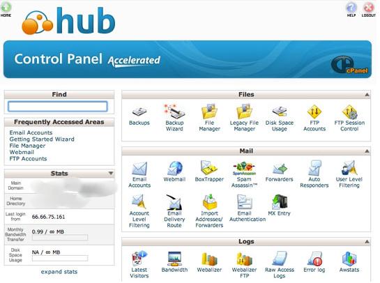 webhostinghub cpanel