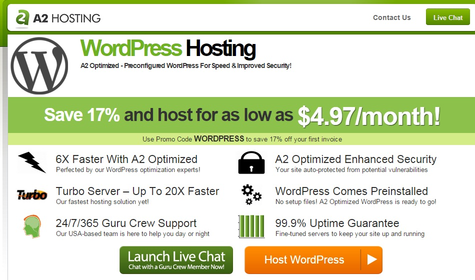 6X-Faster-WordPress-Hosting-From-A2-Hosting