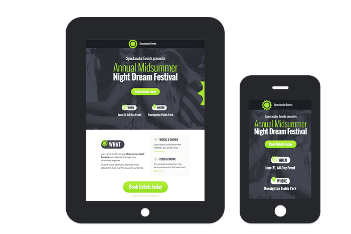 GetResponse Landing Pages Creator mobile friendly