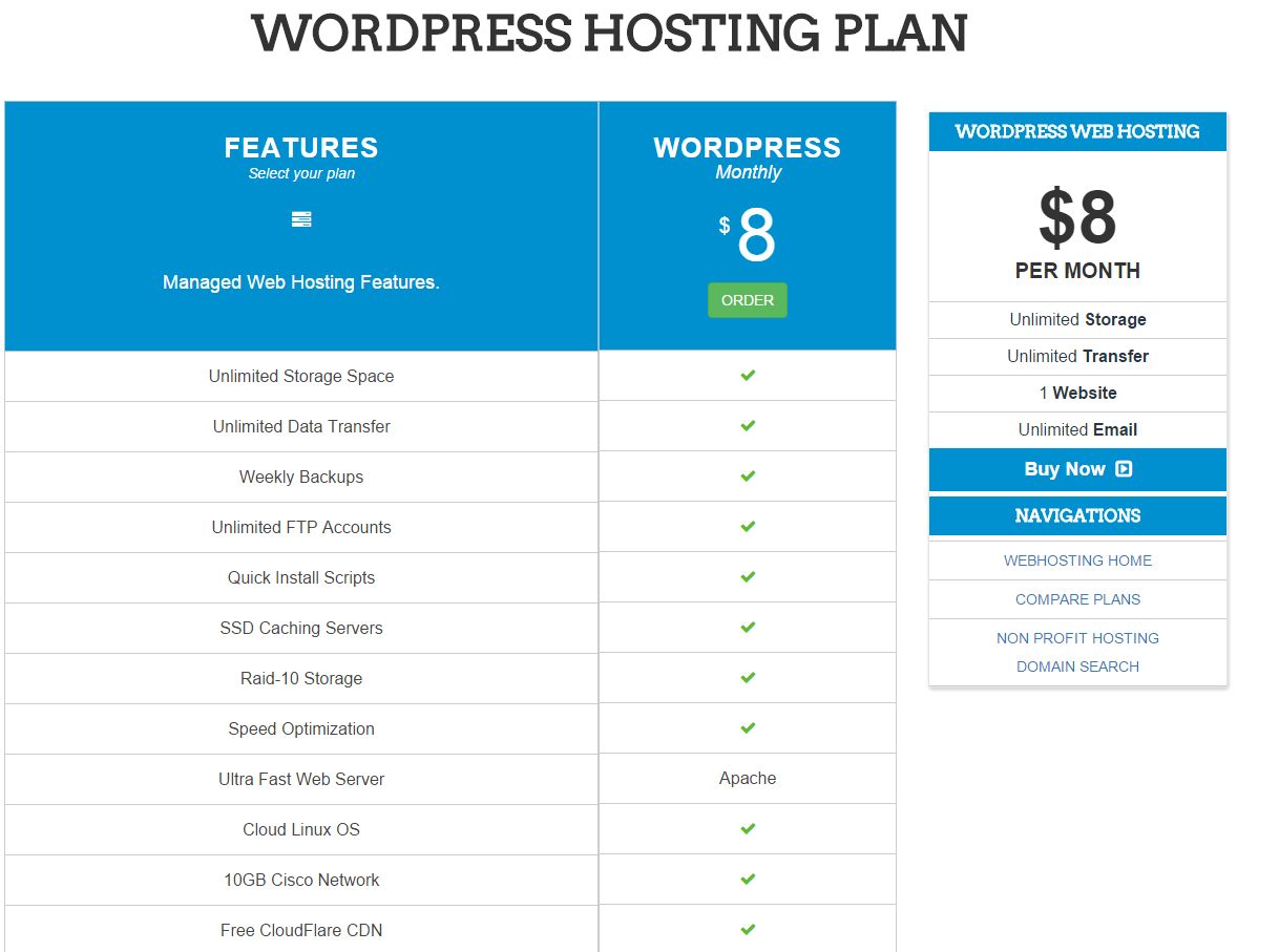 InterServer Managed WordPress Web Hosting plans