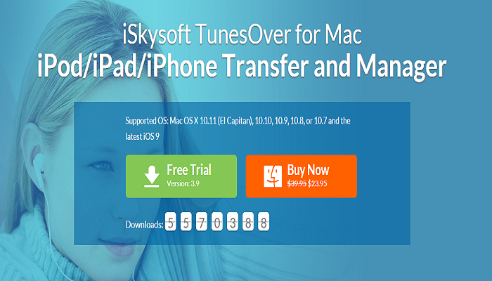 iSkysoft TunesOver for Mac Backup to iTunes Library
