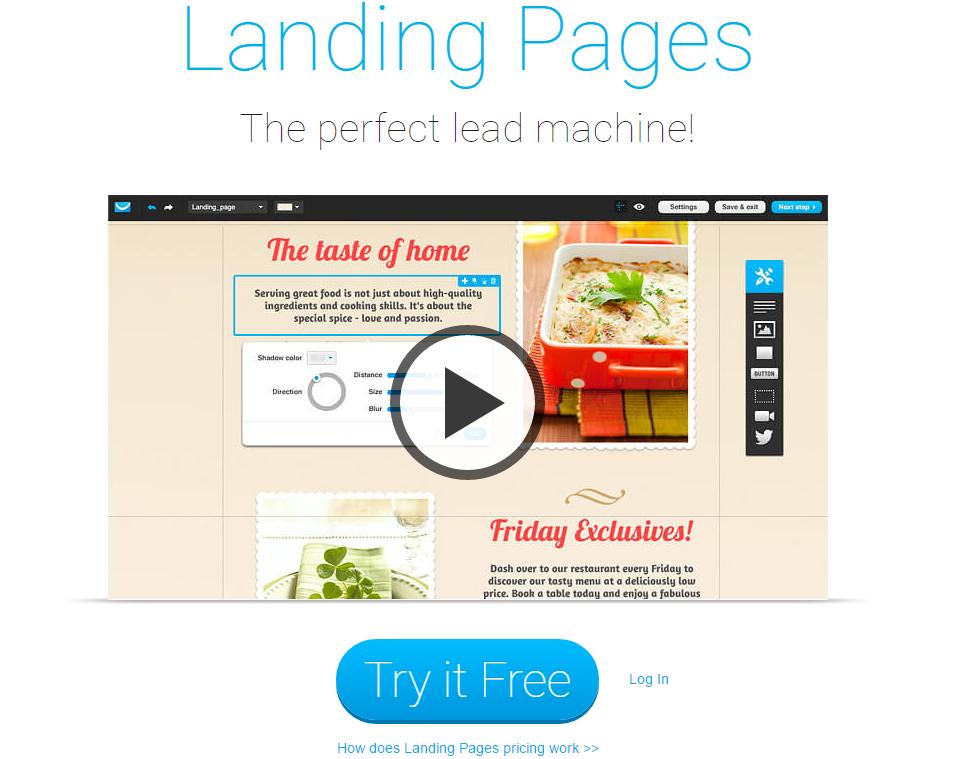 GetResponse Landing Pages Creator