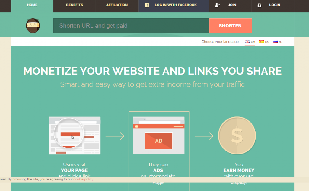 Shorte.st links review Earn money on short links. Make short links and earn the biggest money