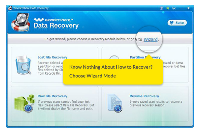 Wondershare Data Recovery Retrieve Data Software
