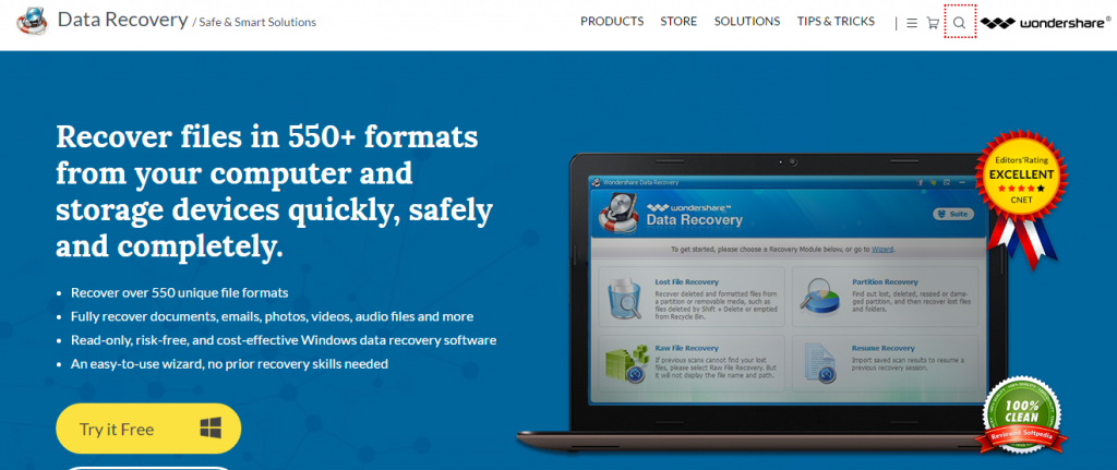 Wondershare OFFICIAL Wondershare Data Recovery Retrieve Data Software